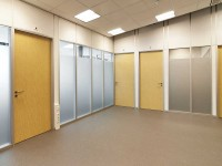 Wipro systeemwand met glas
