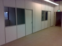 Wipro dichte systeemwand met aluminium kliklijst