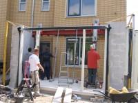 Aanbrengen Balken constructie